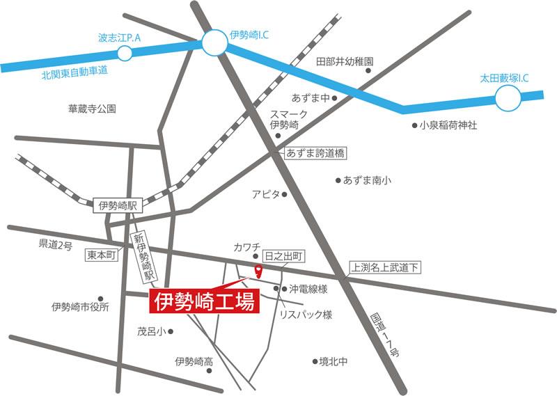 三朋(さんぽウ)企業株式会社 伊勢崎工場へのアクセス